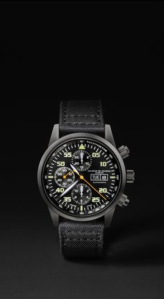 Maurice de Mauriac military watch with fabric strap. Bespoke watches for men and women.