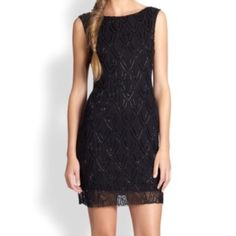 """⚡️FLASH SALE ⚡️Alice and Olivia  Augustine Dress A stunning black silk dress! Measures 32.25"""". This dress is very delicate due to the intricate beading detail.  A fresh take on a classic look! Purchased from the Alicia and Olivia store in the meat packing district, NYC. Worn twice Alice + Olivia Dresses"""