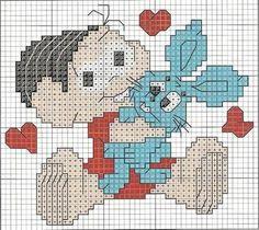 Gráficos de Ponto Cruz: Turma da Mônica gráficos de Ponto Cruz