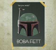 Boba Fett Star Wars poster print A3 by MixPosters on Etsy, $19.00