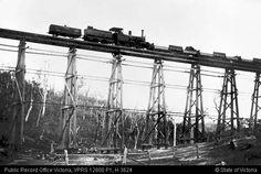 BAIRNSDALE TO ORBOST BRIDGE 3 MILE CREEK LONGITUDINAL BRACING WITH 80 POUND RAILS APPROXIMATELY 1915