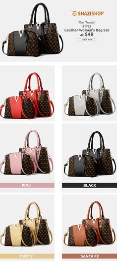 728e57a9989c Women Bags Set 2 Pcs Leather Handbag Women Tote Bag Ladies Shoulder Bag for  Women 2018 Messenger Bag Sac a Main