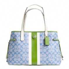 coach pink and gray purse aujs  Find best value and selection for your COACH SIGNATURE STRIPE PVC STRIPE  CARRYALL Style Sv Light blue Green search on eBay World's leading  marketplace