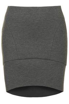 Bonded Curve Hem #Skirt #grey #trend