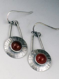 Sunburst Earrings Sterling Silver and by MicheleGradyDesigns, $75.00