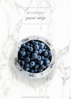 I love making beauty products from natural ingredients, a lot of times that  means using food. I can usually find everything I need in my pantry or  refrigerator. I love this blueberry facial treatment because I always have  the ingredients on hand, and its so simple.  Blueberries are known for their antioxidant power, and they are filled with  vitamin C and E. This treatment is awesome for adding hydration to the  skin, and leaving it super soft. If you are looking to get rid of dead skin…