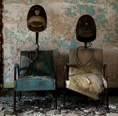 Beauty parlour in the abandoned Greystone Psychiatric Hospital, New Jersey.