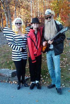 Lady Gaga, Michael Jackson and ZZTop Costumes - Thanks Rachel! #costumes #halloween