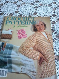 Vintage Herrschner's Crochet Book October 1991 by sheepishnotions, $4.50