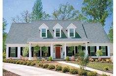 House Plan 17-2068--attached garage that doesn't look like a garage..like this