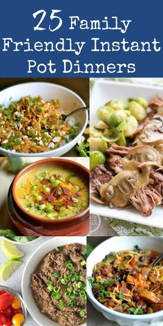 25 Family Friendly Instant Pot Dinners - Wholesomelicious 25 super easy Gluten-Free Instant Pot recipes that are kid friendly! Plenty of Paleo, Vegan, and options Cooker Recipes, Paleo Recipes, Real Food Recipes, Hot Pot Recipes, Easy Instapot Recipes, Crockpot Recipes, Grill Recipes, Light Recipes, Lunch Recipes