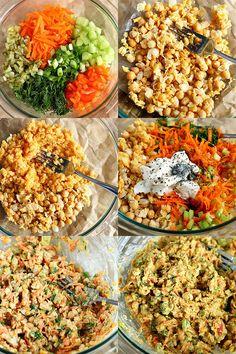 "+ Chickpea Salad Sandwiches (a. Vegan ""Egg"" Salad Sandwiches) Lentil + Chickpea Salad Sandwiches {a. Vegan ""Egg"" Salad Sandwiches} - Lentil + Chickpea Salad Sandwiches {a. Vegan Egg, Vegan Vegetarian, Vegetarian Recipes, Healthy Recipes, Chickpea Salad Sandwich, Chickpea Salad Recipes, Lentil Salad, Clean Eating, Healthy Eating"