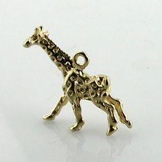 Giraffe 14k Gold Vintage charm