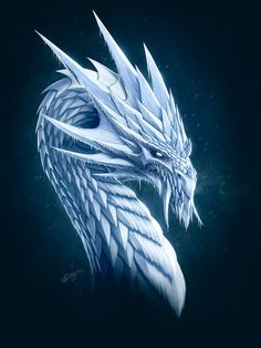White Dragon by *deligaris on deviantART