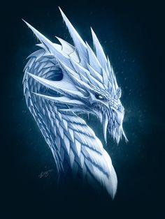White Dragon by *Deligaris on deviantART