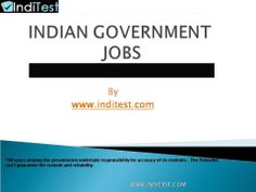 http://inditest.com/government-jobs.html  Bank jobs are thought of united of the foremost wanted careers in India. Sensible pay package, supplementary edges, job security yet as a awfully sensible scope for growth are the most reasons why an outsized variety of Indian youths are setting out to get drawn to this moneymaking career.