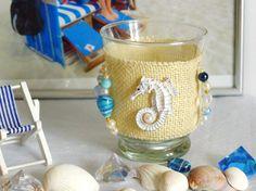 Deko Windlicht Seepferdchen Geschenk