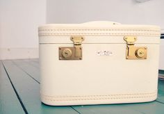 Vintage 1950s cosmetic case luggage by Red Cap by snowbeauty, $70.00