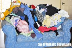 {Routine} Folding Clean Laundry