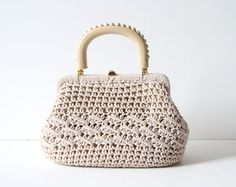 Vintage #crochet handbag (1960's) $35 from northbrooklyndrygood