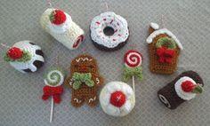 Christmas Sweets Crochet Ornament Pattern Set     https://www.etsy.com/listing/256918668/christmas-sweets-crochet-ornament?ref=shop_home_feat_4