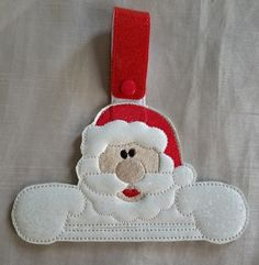 Christmas Kitchen Towel HolderSanta Towel by RenegadesCreations Christmas Kitchen Towels, Handmade Kitchens, Guest Towels, Kitchen And Bath, Towel Holders, Embroidery, Christmas Ornaments, Holiday Decor, Unique Jewelry