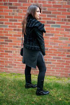 Business and Pleasure; Black Leather Jacket
