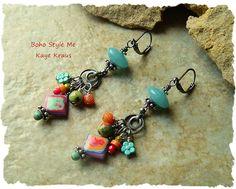 Bohemian Jewelry Rustic Boho Hippie Earrings by BohoStyleMe