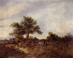 Landschaftsmalerei renaissance  Jacob van Ruisdael - Zandweg in de duinen | Jacob van Ruisdael ...