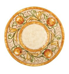 VIETRI - Affresco Service Plate/Charger  These are the dishes I would love to have but they are expensive.