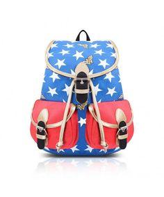 50709b0402652 Women's Bags, Backpacks, Women's Cool Wonder Woman Canvas School Backpack  Bookbag - Blue&
