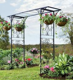 Grand Garden Arbor With Four Hanging Baskets.   $300 just arbor or $380 arbor with 4 hanging baskets
