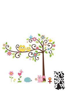Vinilo adhesivo decorativo con forma de for Pegatinas pared arbol infantil
