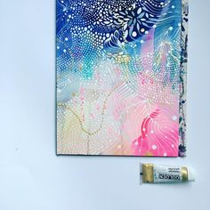 Detailed and patterned art by Helen Wells featuring gold paint