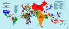 This is what a world map looks like when scaled by population