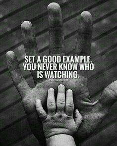 Work motivational quotes : Somebodys always watching Work Motivational Quotes, Great Quotes, Positive Quotes, Love Quotes, Inspirational Quotes, Being A Dad Quotes, Gary Vaynerchuk, Words Quotes, Wise Words
