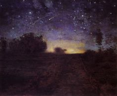 Jean-Francois Millet - Nuit Etiolee (c. 1851) may have inspired van Gogh's Starry Night