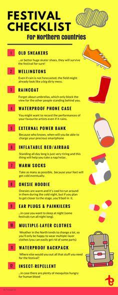 f6f787af91638 Your ultimate festival checklist   going to a festival in a Northern  country - check this
