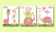 Elephant Nursery Giraffe Nursery Turtle from artbynataera on