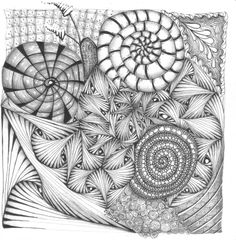 Spiral and Paradox | Marizaan van Beek, a CZT in South Africa, posted on IAmTheDiva to kick off the Diva Challenge #62