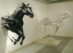 """Emergence"" #Sayaka #Kajita #Ganz's #horse #sculptures from #trash-picked objects! Gorgeous! http://bit.ly/1azlUSS"