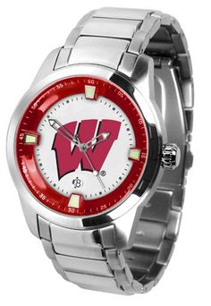 NCAA Men's Wisconsin Badgers Titan Steel Watch
