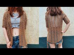 Kimono Pattern Free, Cardigan Pattern, Crochet Cardigan, Cardigan Sweaters, Knit Dress, Crochet Saco, Crochet Top, Crochet Summer, Decor Inspiration