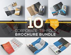 Best 10 Tri Fold Brochure Bundle CreativeWork247 - Fonts, Graphics, Themes,...