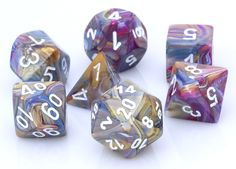 Festive Dice (Carousel) RPG Role Playing Game Dice Set