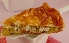 Leek and cheese pie - iCookGreek Pastry Cook, Savory Muffins, Cheese Pies, Greek Cooking, Greek Recipes, Lasagna, Cake Recipes, Dishes, Baking