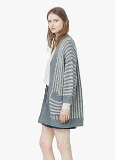 Striped cotton cardigan   MANGO - ez nem annyira