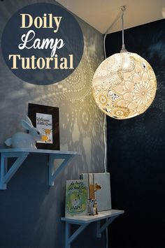Lacey Victorian Doily Lampshade