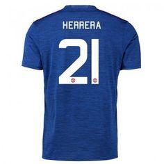 Manchester United 16-17 Ander Herrera 21 Bortatröja Kortärmad  #Fotbollströjor