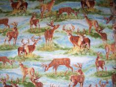 Sanctuary,  Cotton Fabric,Deer Print,1 Yard,Wilmington Prints by susiesfabrics on Etsy